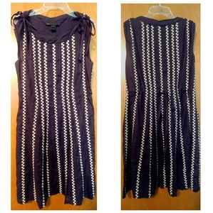 Marc by Marc Jacobs Cotton Navy Blue Summer Dress